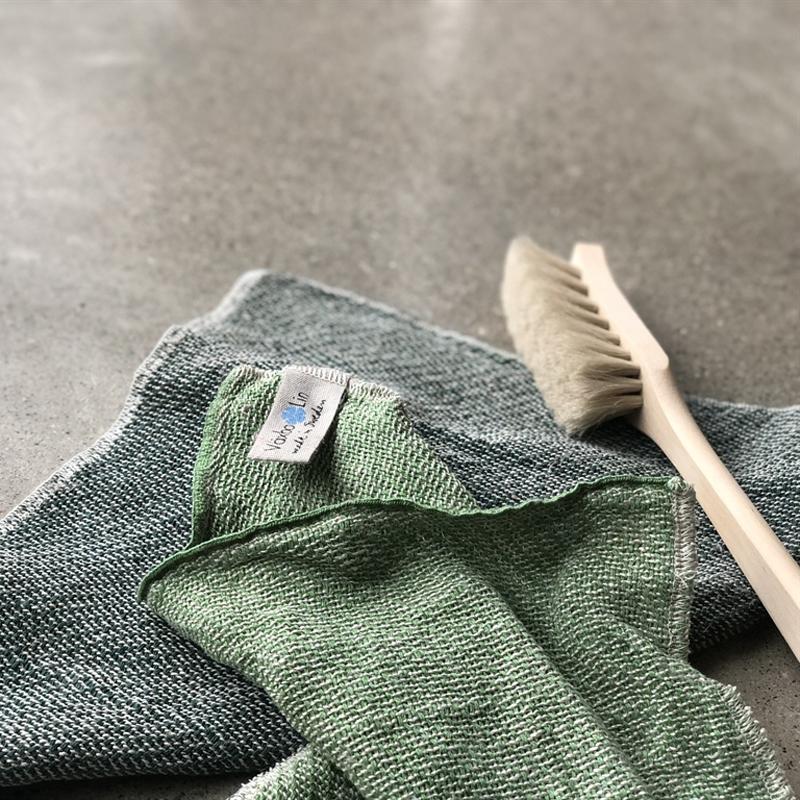 Gröna disktrasor i lin