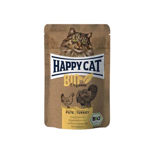 HappyCat våt, Bio Organic, kyckling & kalkon