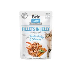 Brit Care Cat Adult Kalkon & Räkor i Gelé 85 g