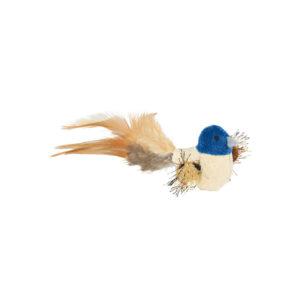 Fågel med plysch och fjädrar